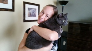 Melanie on a pet sit for one of our kitty clients, Danielle.